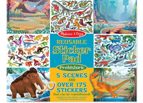 Álbum de stickers reutilizable, Prehistoria (Melissa & Doug)