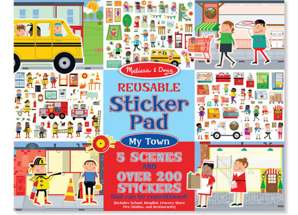 Álbum de stickers reutilizable, Mi Ciudad (Melissa & Doug)