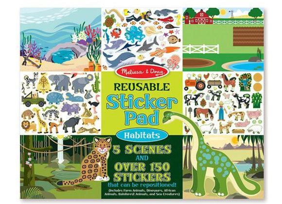 Álbum de stickers reutilizable, Hábitats (Melissa & Doug)