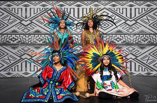 Abuela M'api Rainflowa and the orignal palabras of the Calmecac AKA as Houston Aztec Dance danzantes