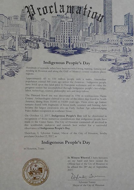 Indigenous People's Day in Houston, Texas 2020