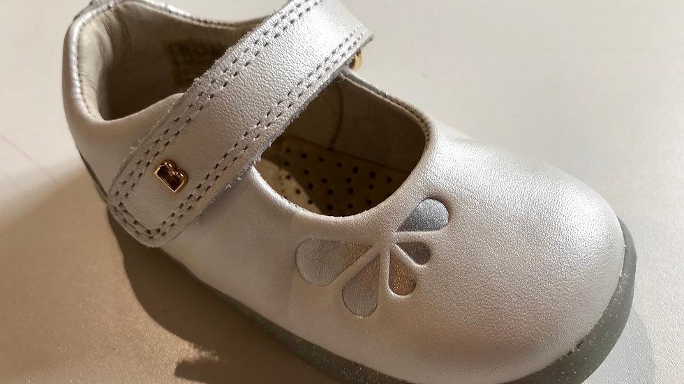 Bobux Step Up Delight Mary Jane White Petal 728419 Sizes 19-22
