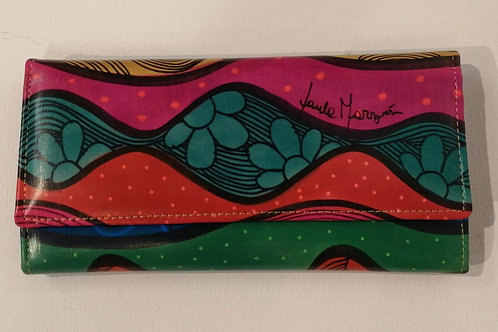 Hand-painted Leather Wallet (Waves)