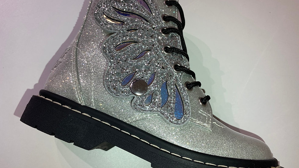 Lelli Kelly Ali DI Fata girls boot in silver LK5544