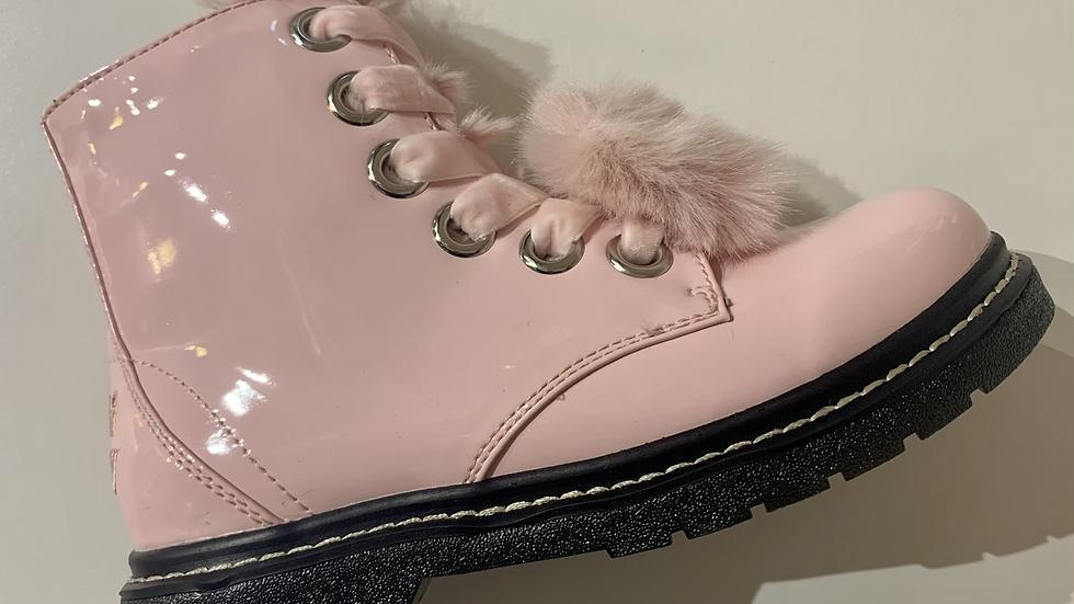 Lelli Kelly girls patent leather boots Vernice Rosa LK6520