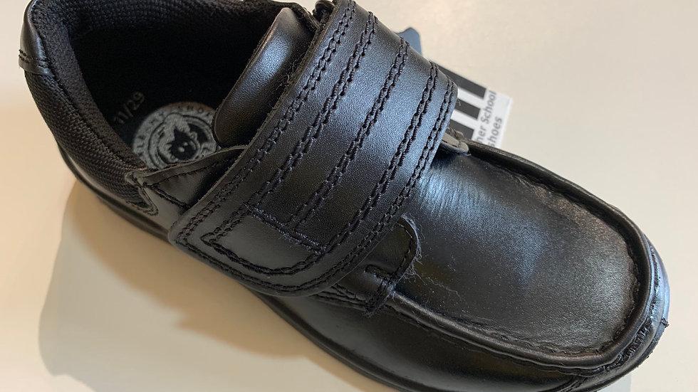 Buckle My Shoe black leather boys school shoes