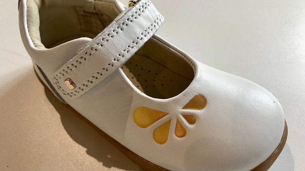 Bobux I Walk Delight Mary Jane White Petal 628040  Sizes 22-26