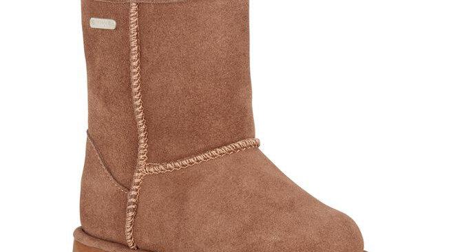 EMU Brumby Lo kids waterproof sheepskin boots in Oak K10773