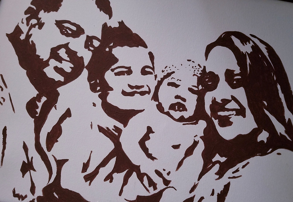 Family Portrait in acrylic