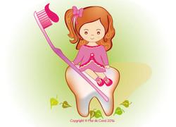 Coral en el dentista