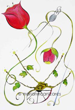 Tulipanes en el útero de las ideas.