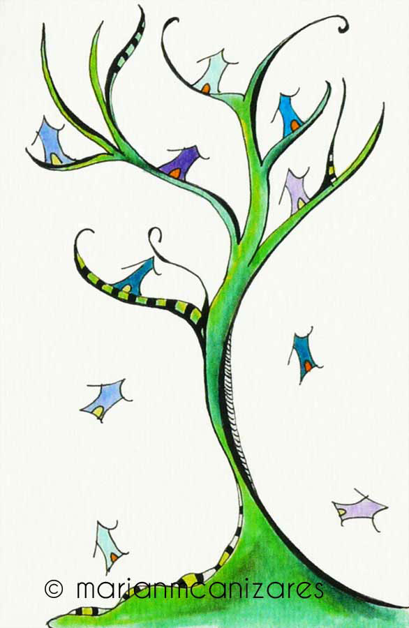 El árbol muda sus casas