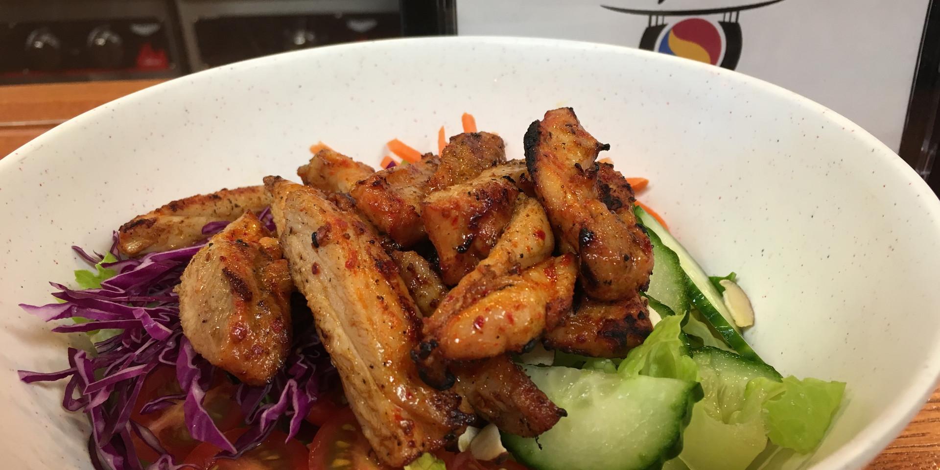 Korean BBQ Chicken Salad