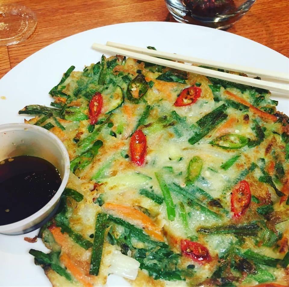 Shrimp and Veggi Pancake