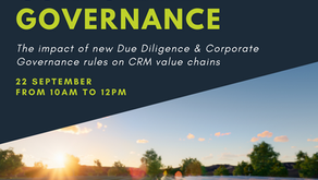 Registration is now open: CRM-A Webinar on Due Diligence & Sustainable Corporate Governance
