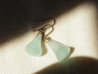 Light Blue Earring Candles