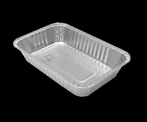 Vaschetta alluminio 2 porzioni - 108 Pz