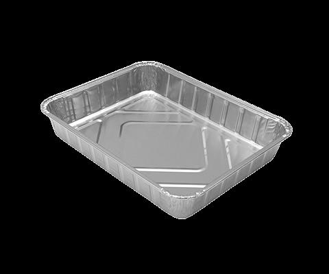 Vaschetta alluminio 4 porzioni - 100 Pz