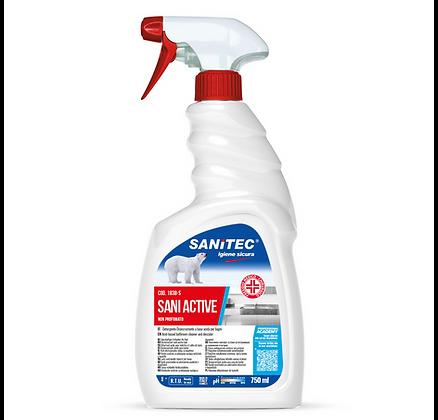 SANITEC SANI ACTIVE Sgrassatore igienizzante, Non profumato, spray - 750ml - 6Pz