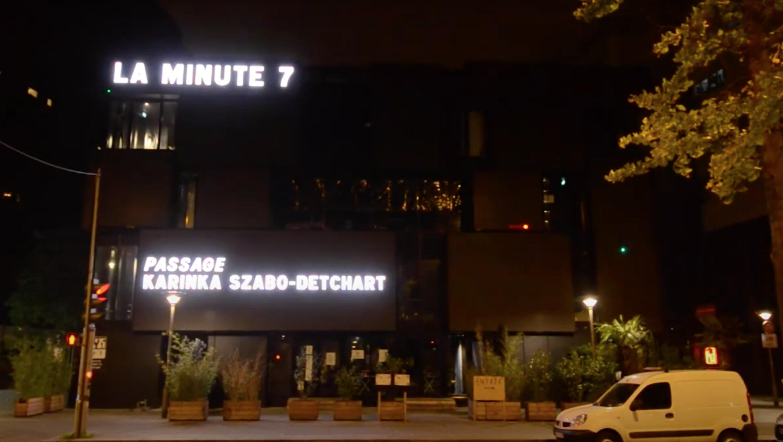 LA MINUTE 7- NUIT BLANCHE