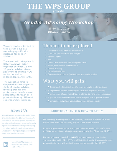 Gender Advising Workshop - July 2019 - v