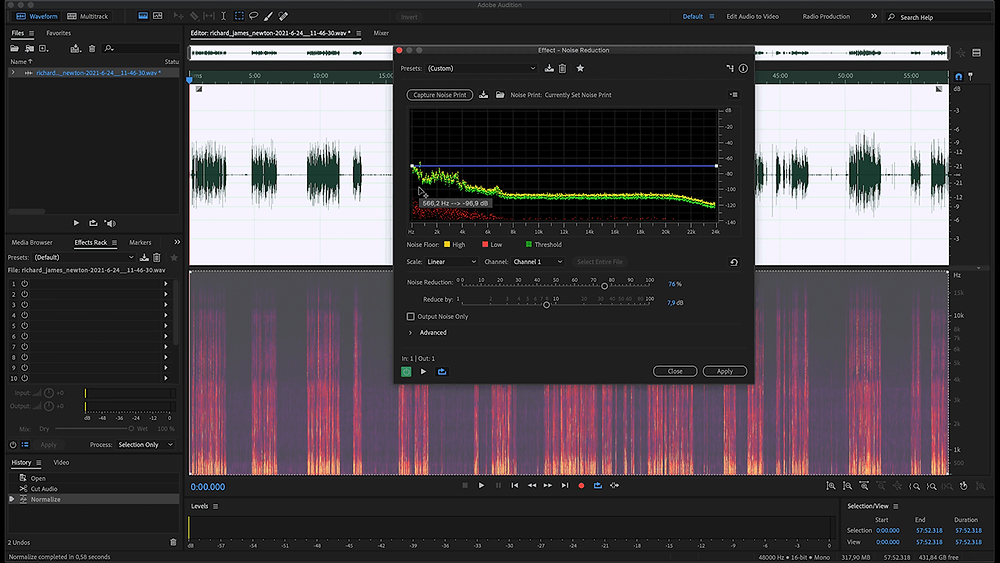 Background Noise Removal in Adobe Audition