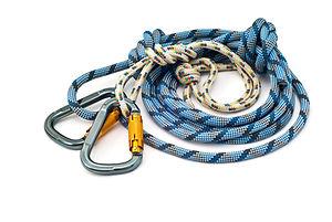 Isolated new climbing equipment - carabi