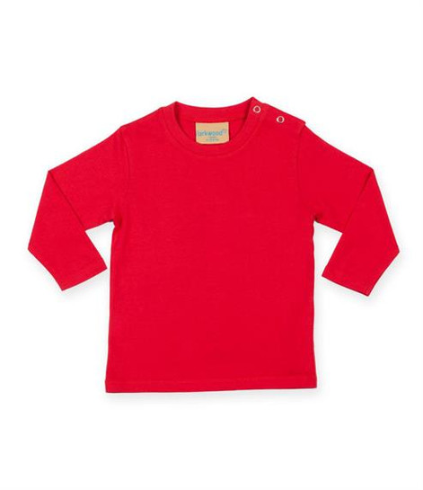Red long sleeve sweatshirt The red long sleeved t-shirt is great bold color to bring variety to theBjörkBox and your wardrobe. Can be paired with leggings or the pyjama trousers for a simple outfit