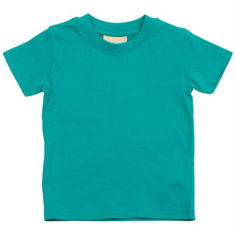 Aqua T-shirt The aqua blue t-shirt is great pop of color for a little variety in theBjörkBox and your wardrobe. Can be paired with leggings or the pyjama trousers for a simple outfit.