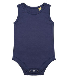 Navy vest The navy sleeveless body is the most basic item in theBjörkBox. Can be used as undergarment or on its own when the weather starts getting warmer. With popper fastening its easy to put on and take off
