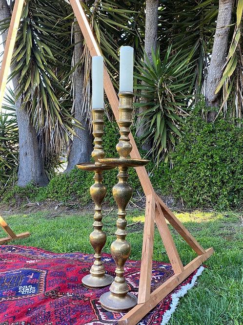 XL Brass Candlesticks (Pair)