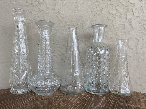 Assorted Glass Bud Vases