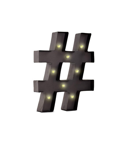 Marquee Hashtag Light