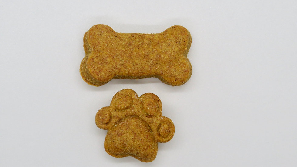 A classic: peanut butter and pumpkin treats your dog will flip for! Made with 100% pumpkin (for digestion!) and homemade pean