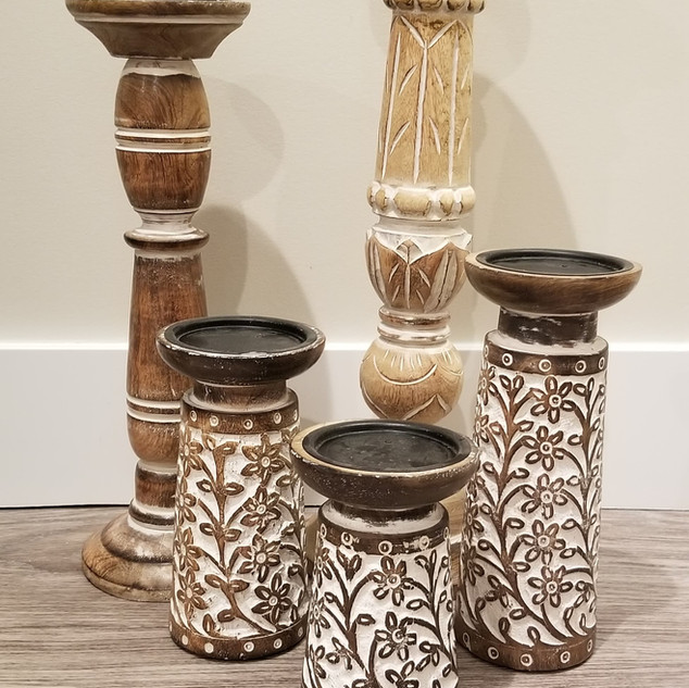 Pedestal candle holders