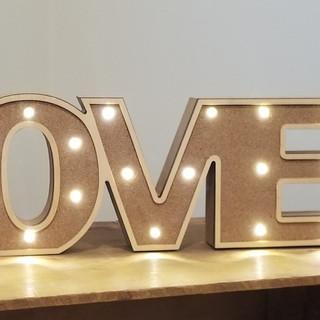 Light up love sign