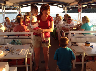 Family gathering on M/V Bay Breeze Boat Tours of Chesapeake City, MD