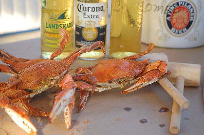 Steamed hard shell Maryland blue crabs
