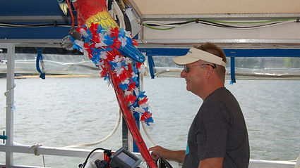 Capt Brad Heil on M/V Bay Breeze of Chesapeake City