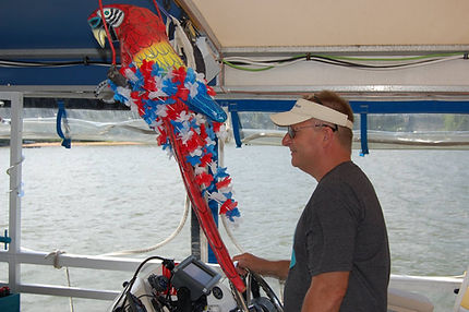 Capt. Brad Heil on M/V Bay Breeze
