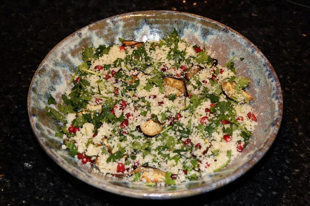 Cauliflower rice | Vegan, gluten free sweet potato harissa falafel recipe | The Dopey Vegan
