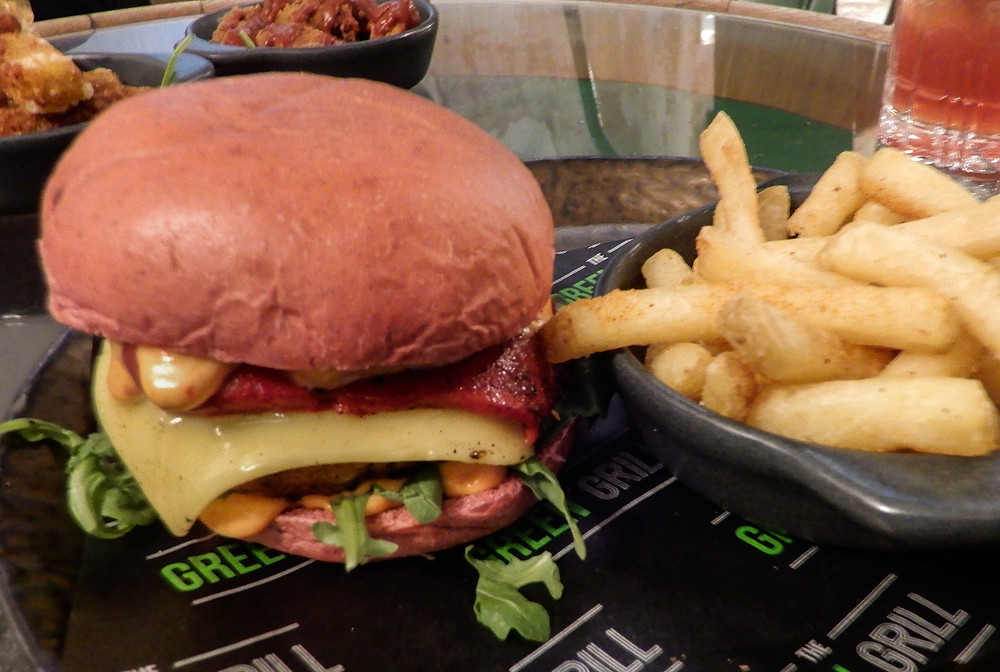 The Red Devil Burger | The Green Vic | The World's Most Ethical Pun | The Green Vic Review | Vegan Restaurant Review | The Dopey Vegan