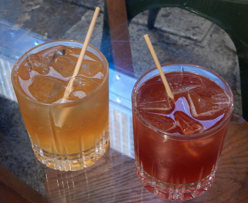 Charity donating cocktails with wheat steam straws | The Green Vic | The World's Most Ethical Pun | The Green Vic Review | Vegan Restaurant Review | The Dopey Vegan