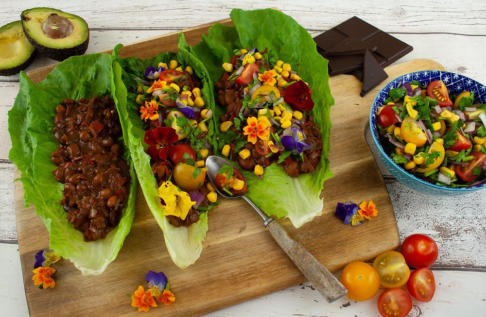 Chilli Chocolate Tacos| Vegan and Gluten Free Recipe | Plan The Dopey Vegan