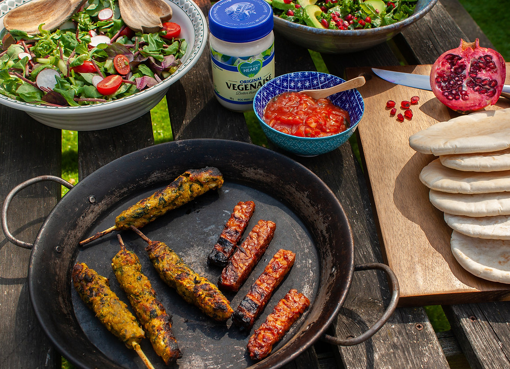 The cooked vegan kebabs and ribs  | BBQ | Vegan BBQ | The Meat-Free Butchers by Sainsbury's | Meat-Free Options | Vegan Butchers | Vegan Meat | The Dopey Vegan