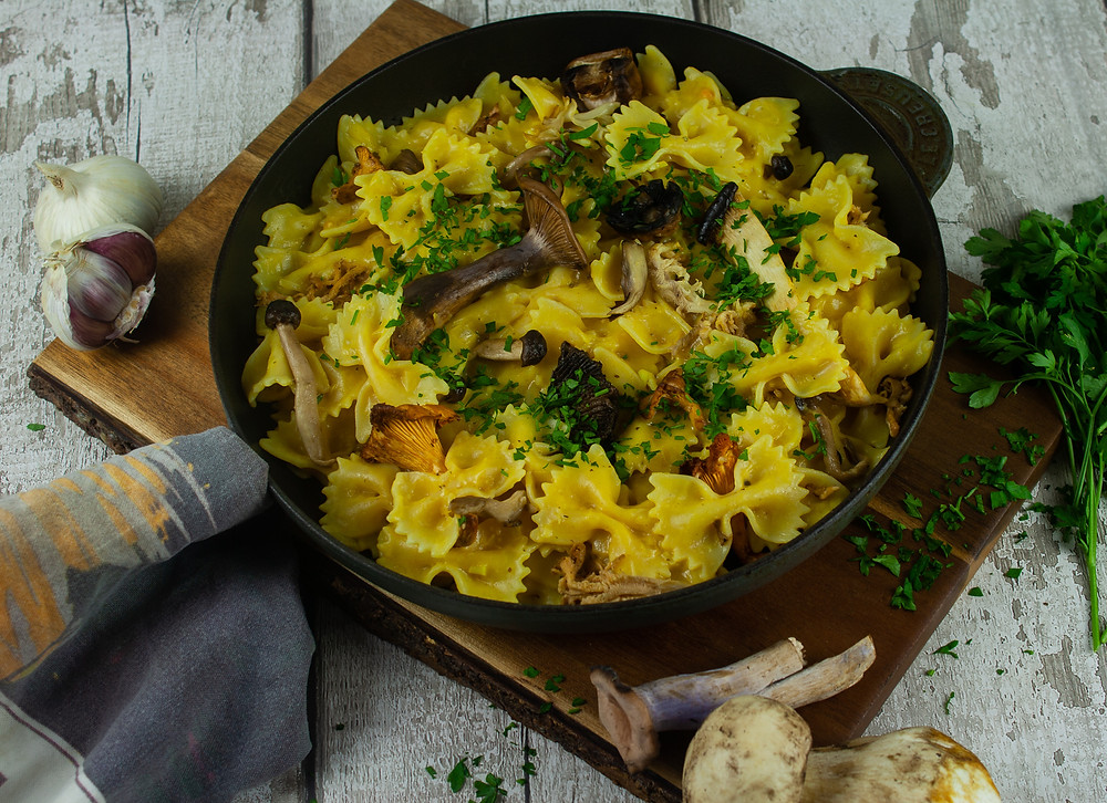 Wild Mushroom Stroganoff | Vegan Mushroom Stroganoff Recipe | Vegan and Gluten Free Recipe | Vegan and Ethical Lifestyle Blog | The Dopey Vegan