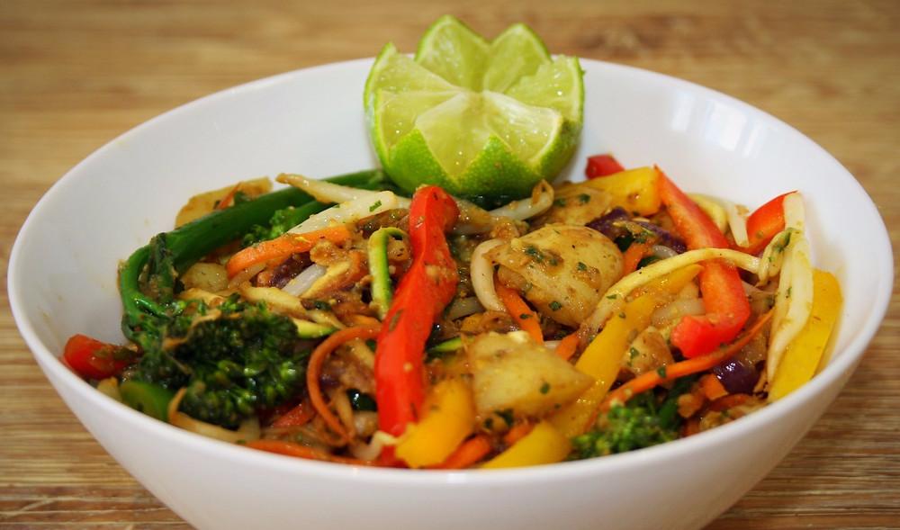 | Banana Stir Fry Curry | Vegan Gluten Free Recipe | The Dopey Vegan