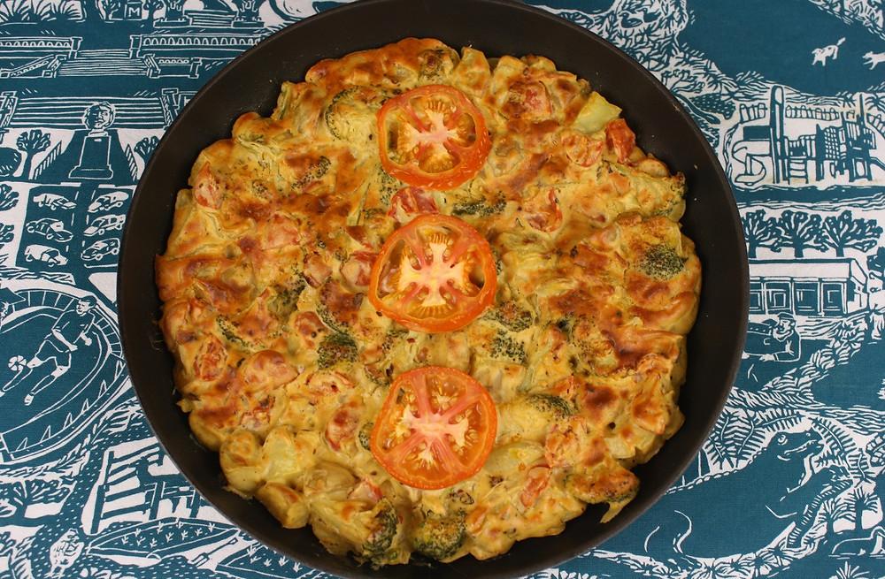 Vegan Veg Omelette | Vegan and gluten free recipe | The Dopey Vegan