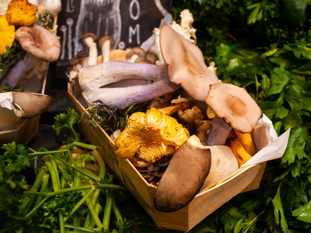 Mushroom box at Turnips Borough | Wild Mushroom Stroganoff | Vegan Mushroom Stroganoff Recipe | Vegan and Gluten Free Recipe | Vegan and Ethical Lifestyle Blog | The Dopey Vegan
