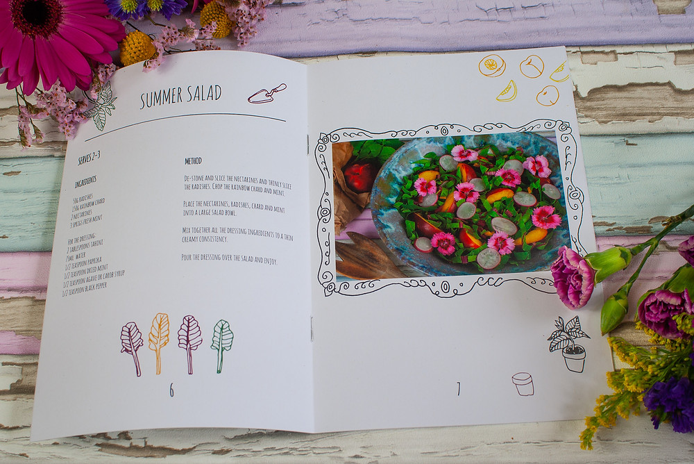 Summer Salad | The Dopey Vegan's Little Book of Summer | Little Book of Summer | Vegan zine | Vegan recipe book | The Dopey Vegan
